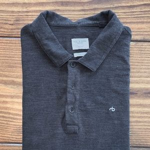 Rag & Bone XXL Black Polo Preowned only worn once